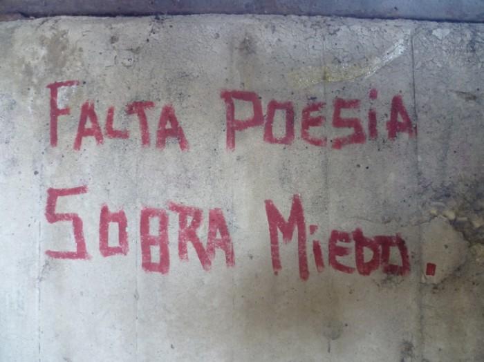 falta poesía sobra miedo
