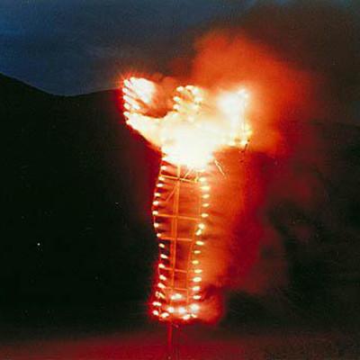 Ana Mendieta. Ánima silueta de cohetes, 1976